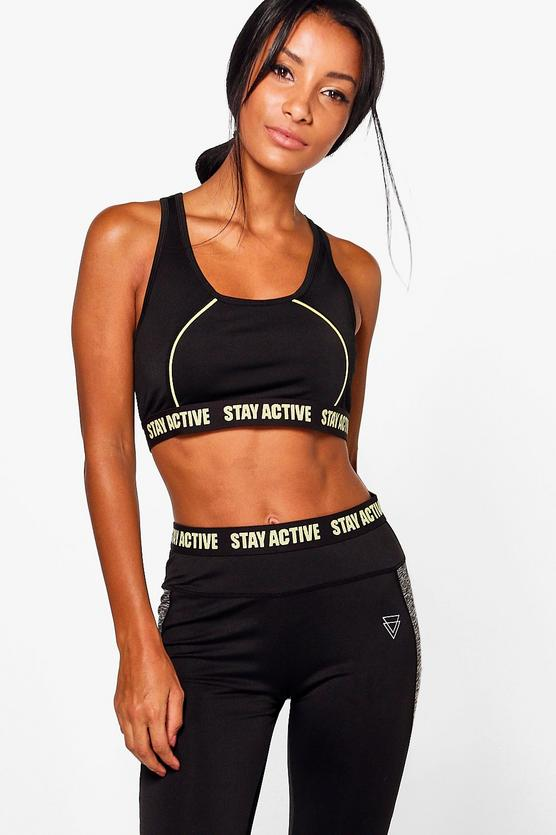 3878415605f4 Grace Fit Stay Active Sports Bra