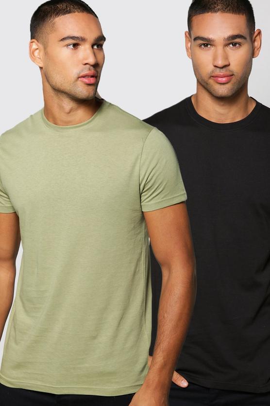 Crew Neck T Shirt 2 Pack