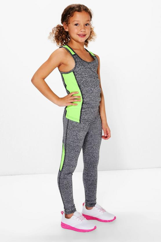 50d57377aa2df Girls Sports Top And Legging Set