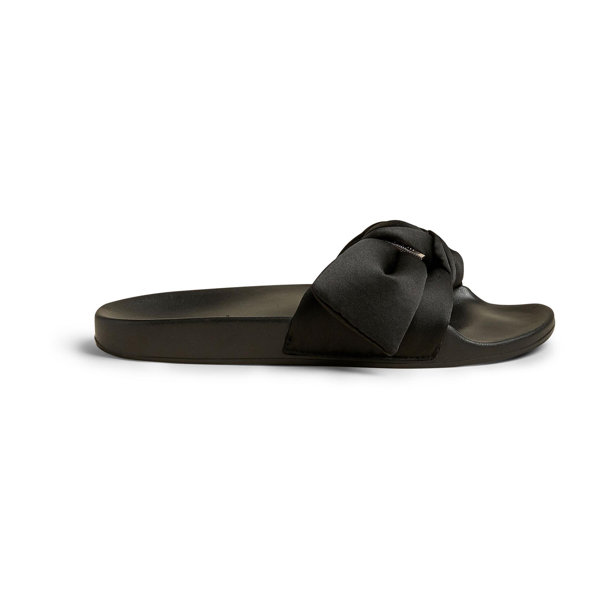 Tielal Satin Bow Slides