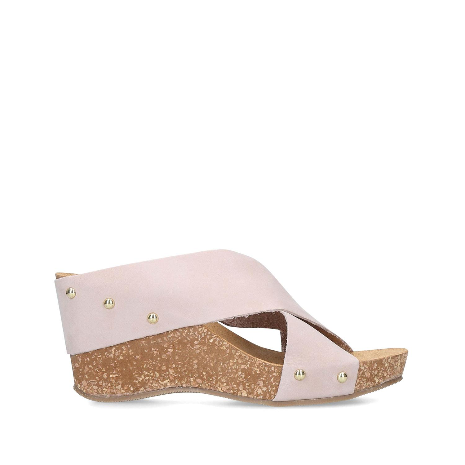 Sooty Studded Wedge Sandals