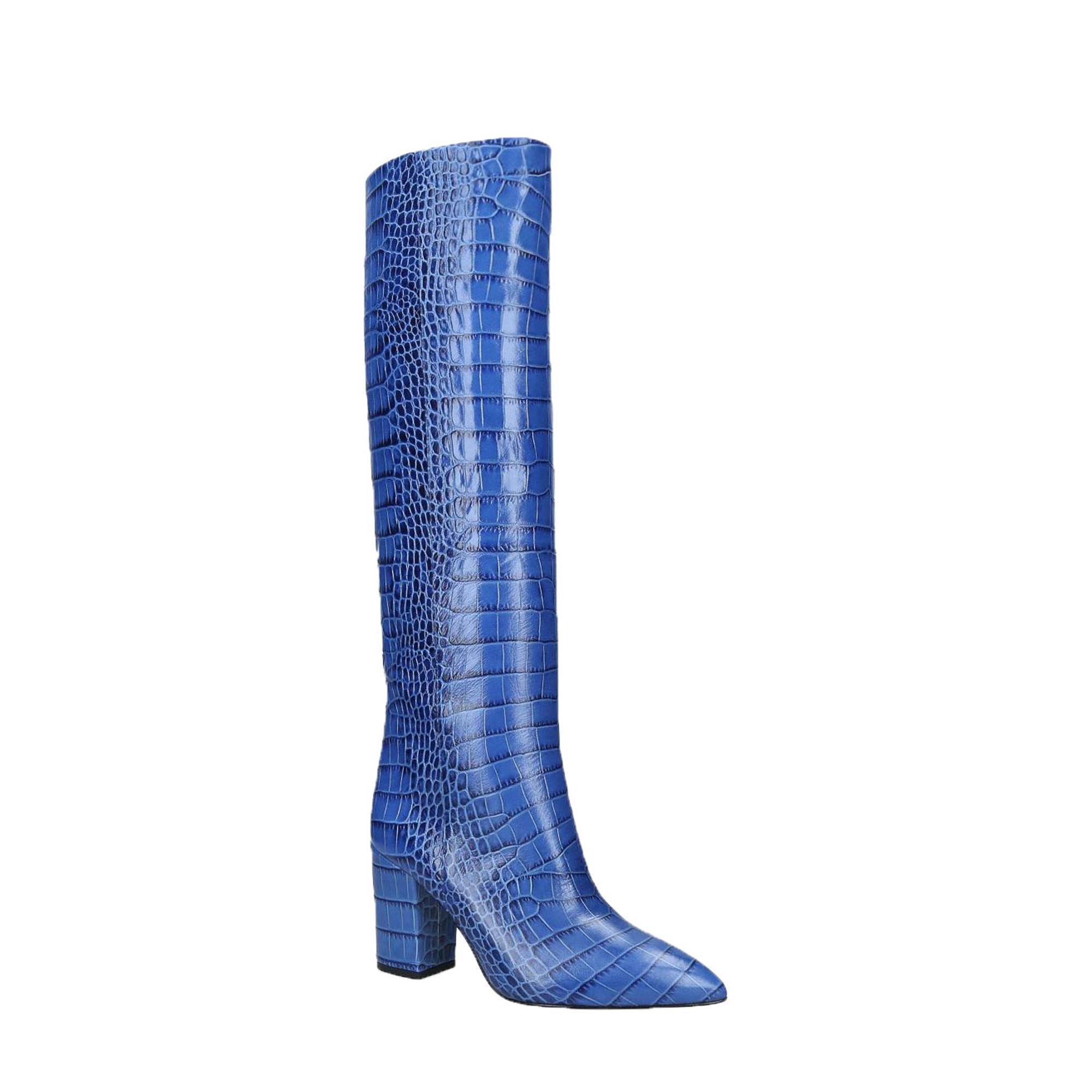 Mock Croc Knee High Boot 80