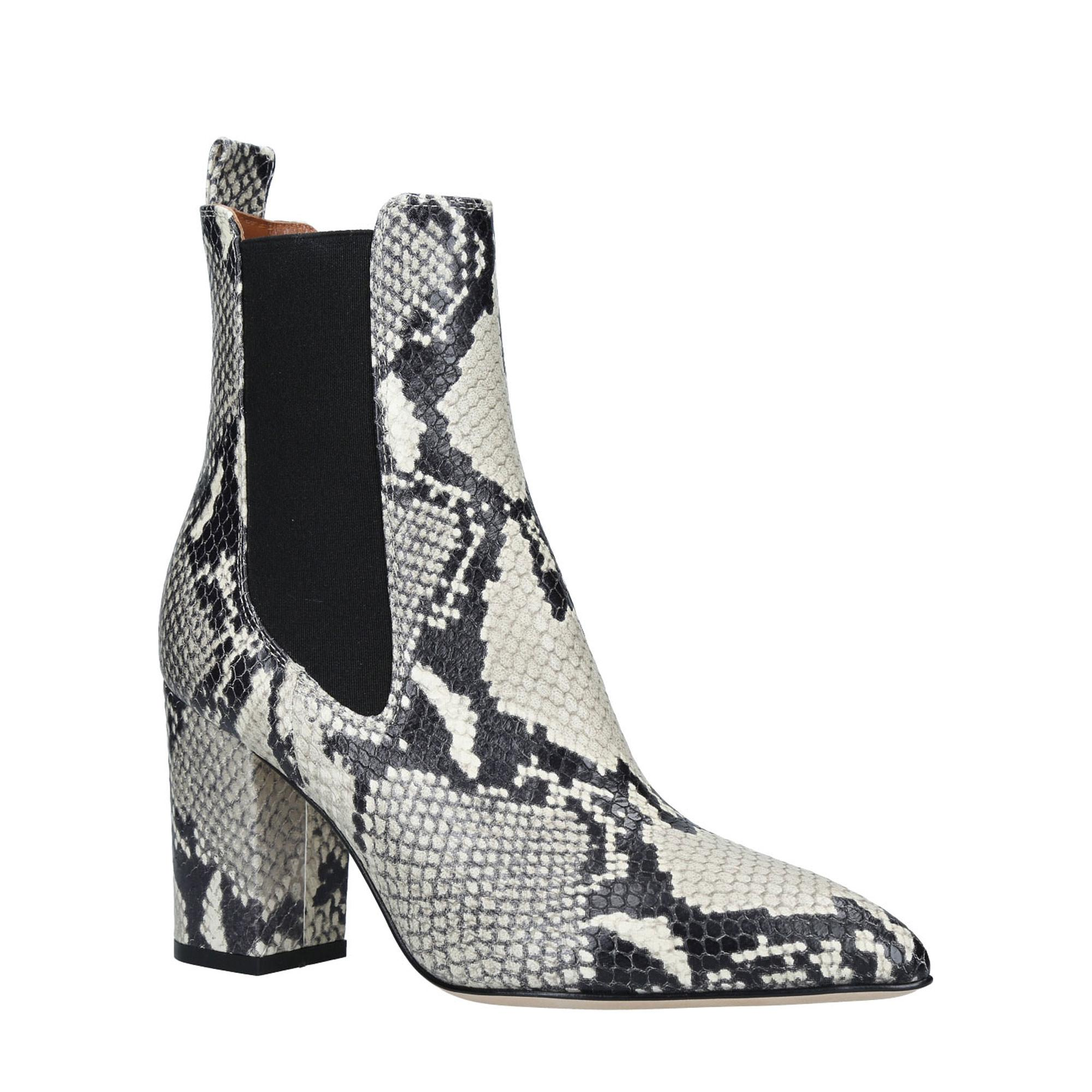 Snake Print Ankle Boot 80