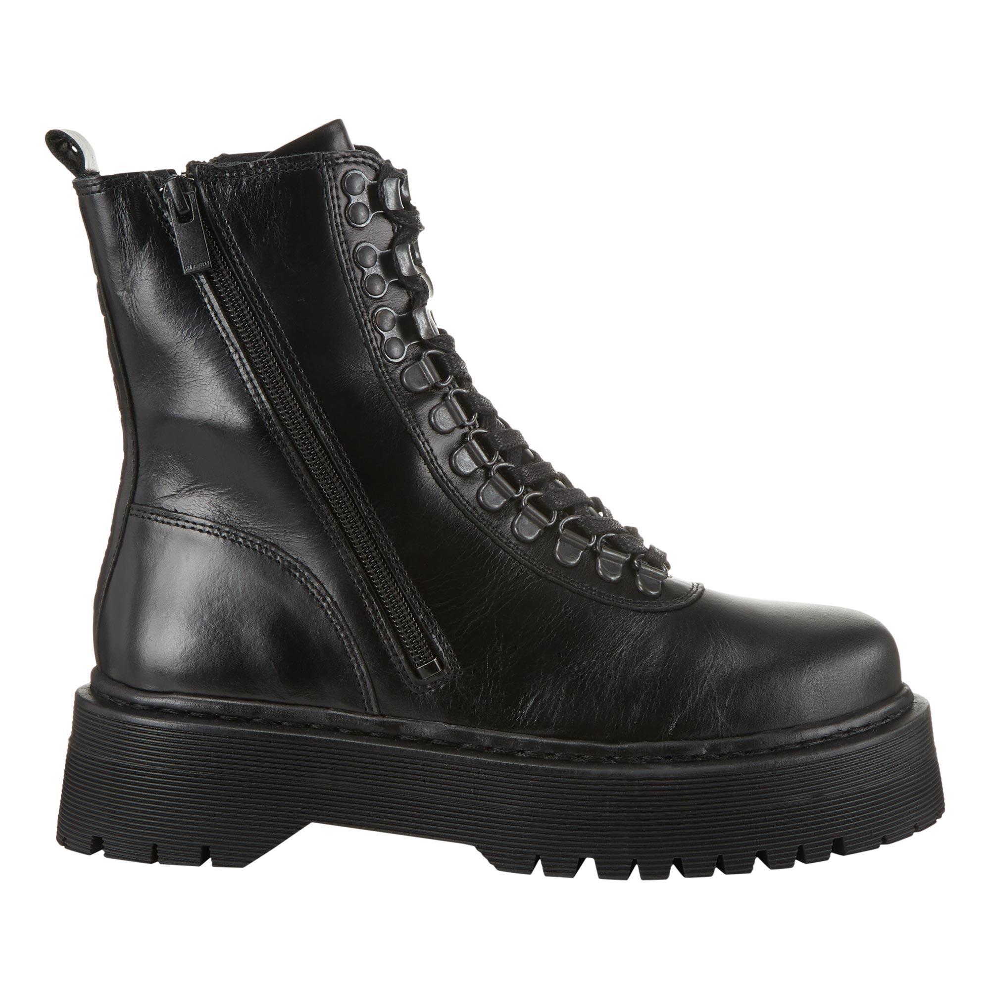 Platform Lace-Up Boots