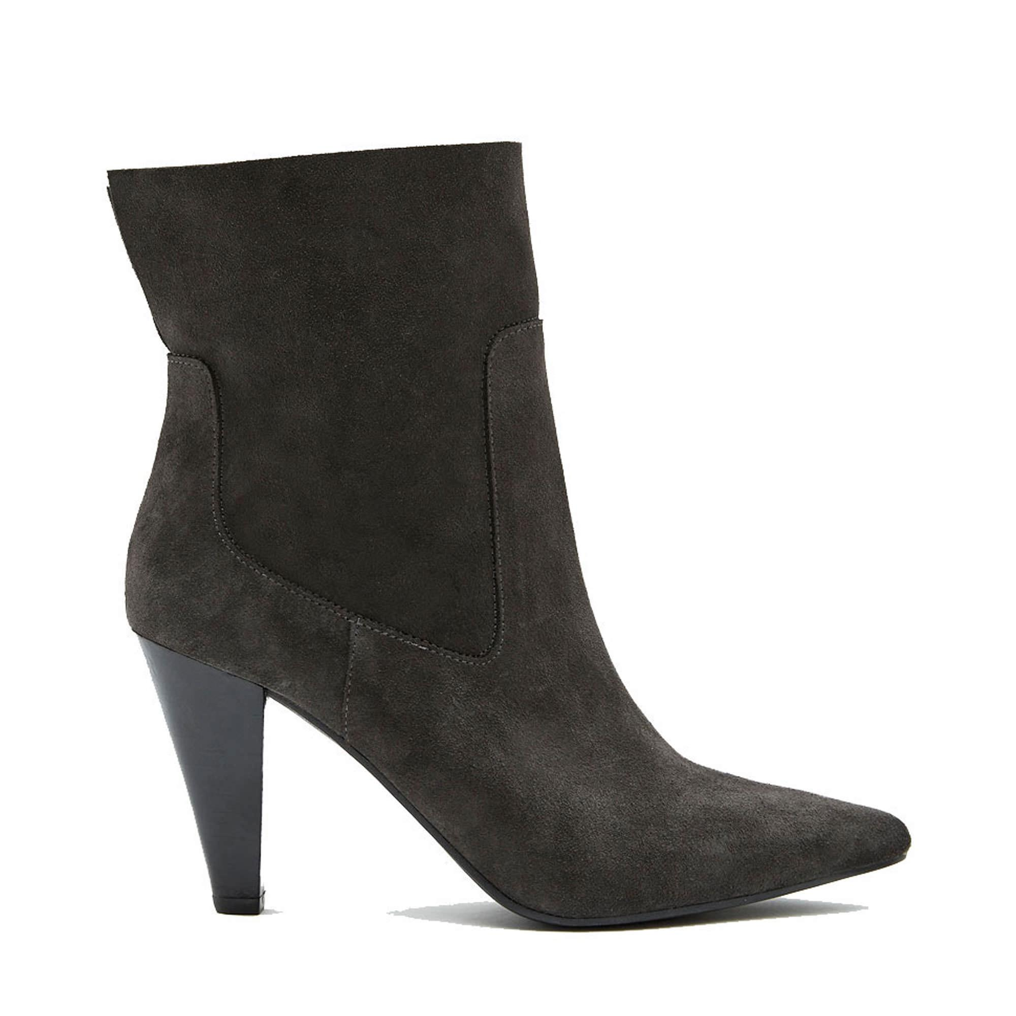 Ezra Grey Suede Ankle Boots