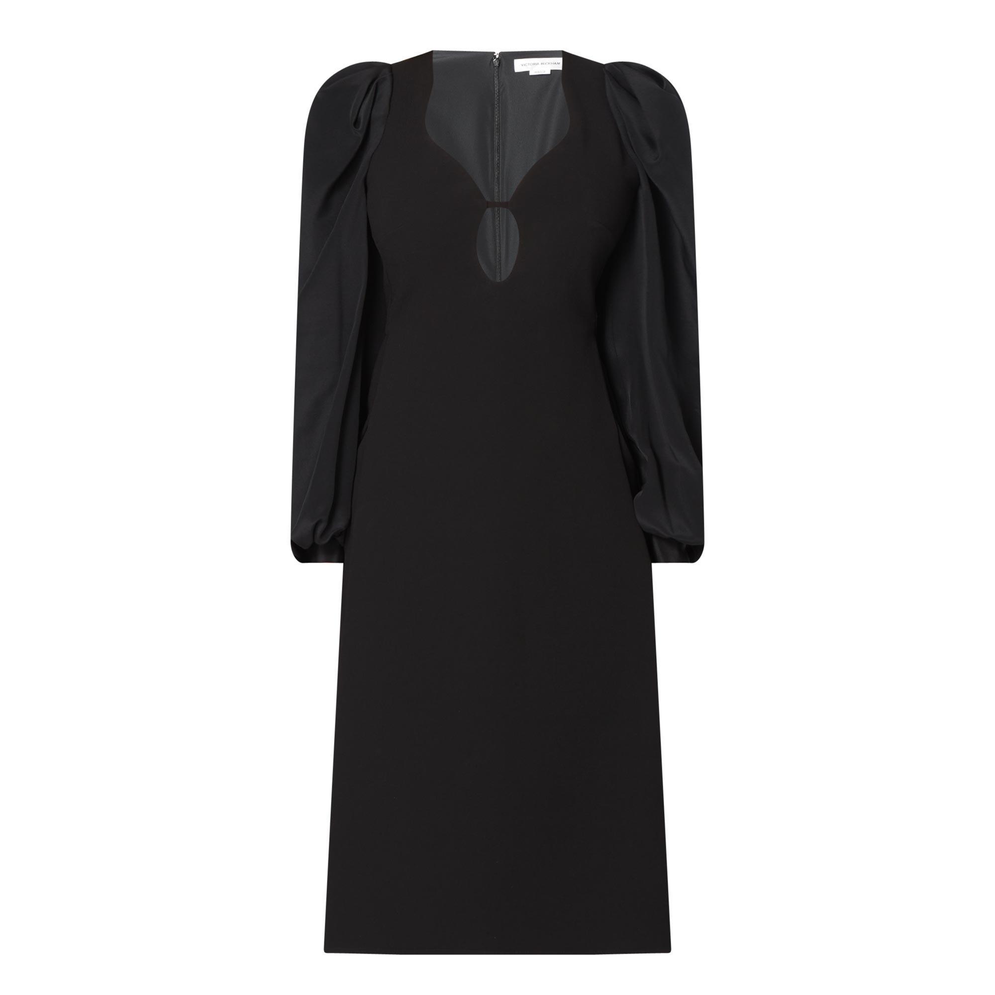 Keyhole Detail Midi Dress