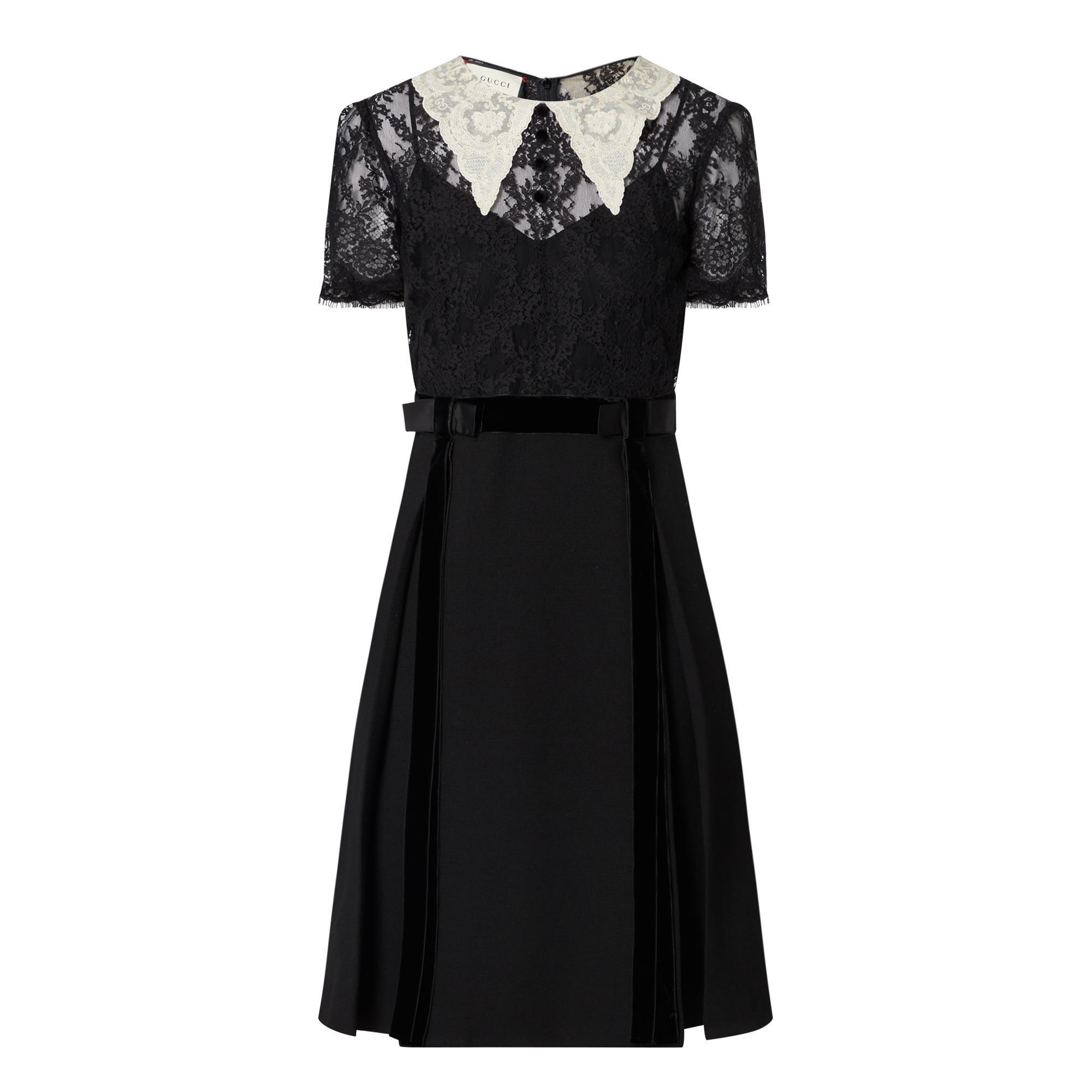 Short Sleeve Pilgrim Collar Dress