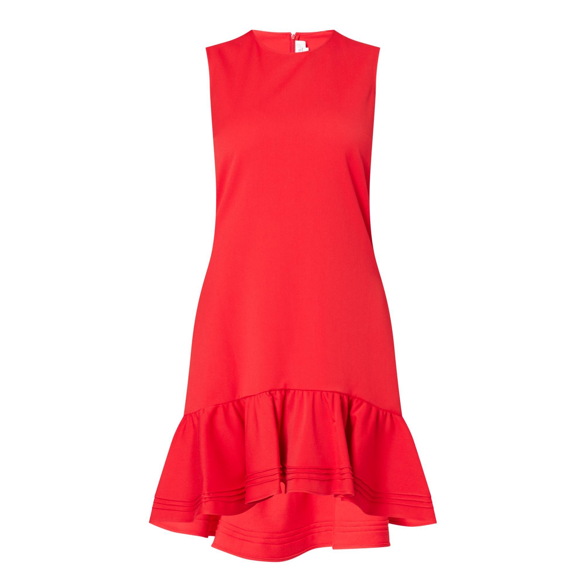 Pintuck Flounce Dress