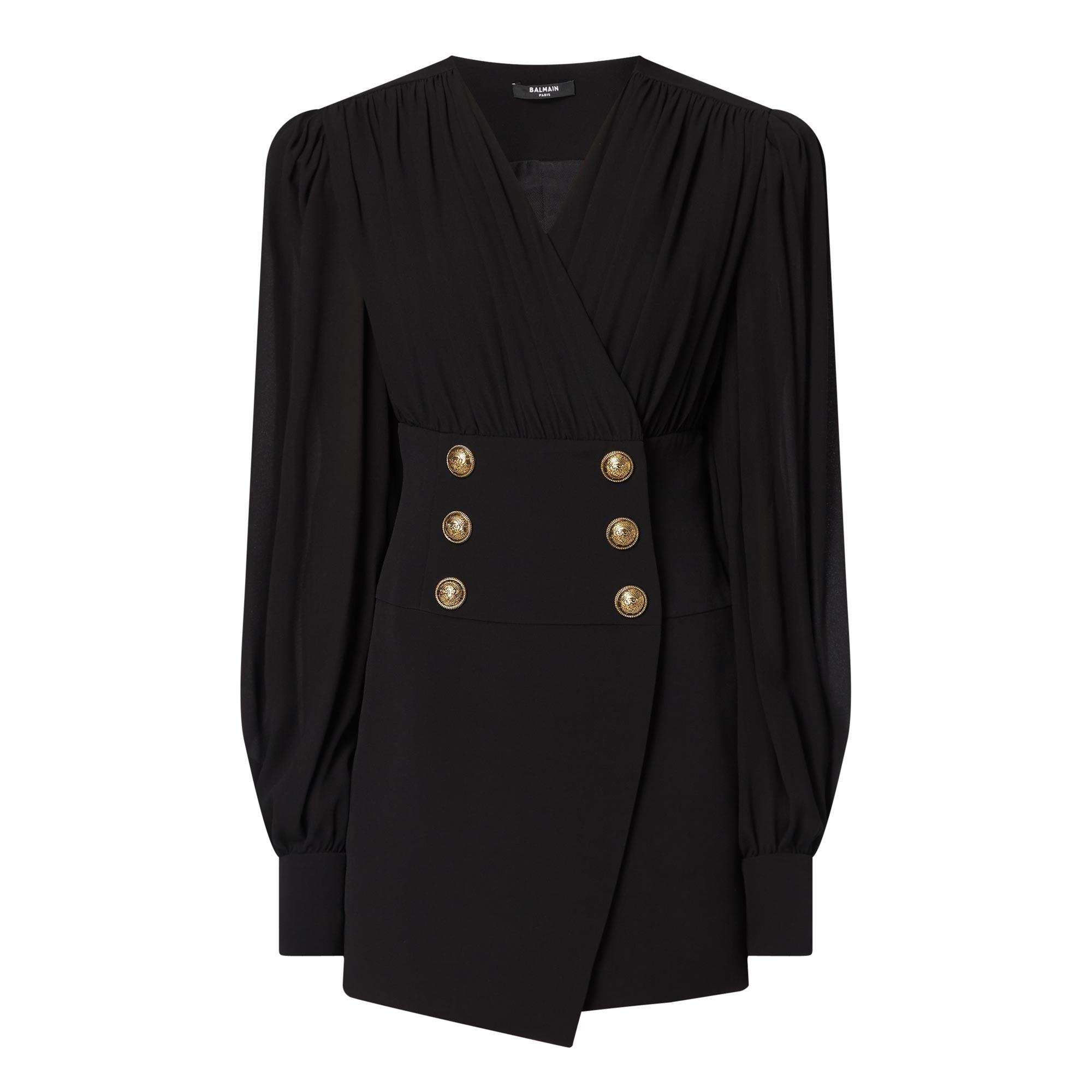 Six-Button Sleeve Dress