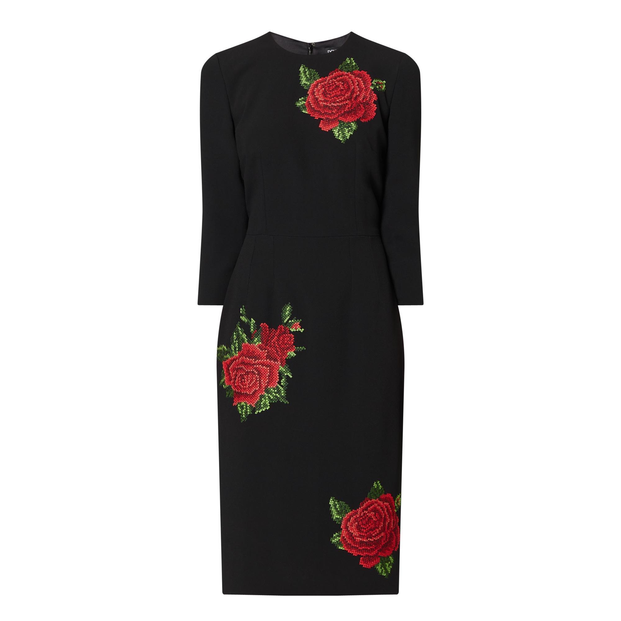 Midi Rose Dress