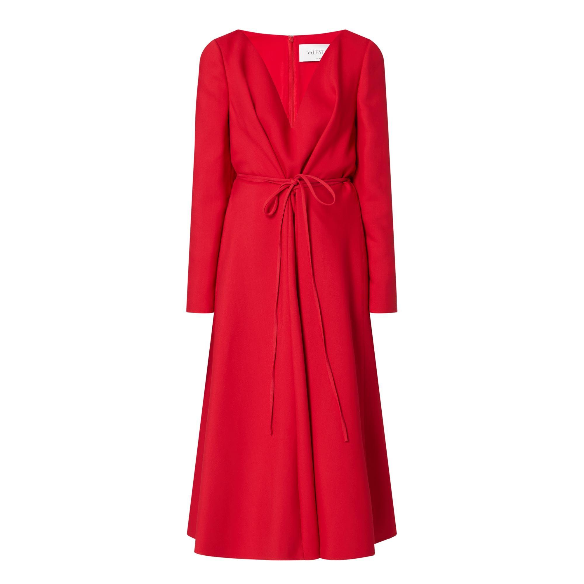 V Neck Split Dress
