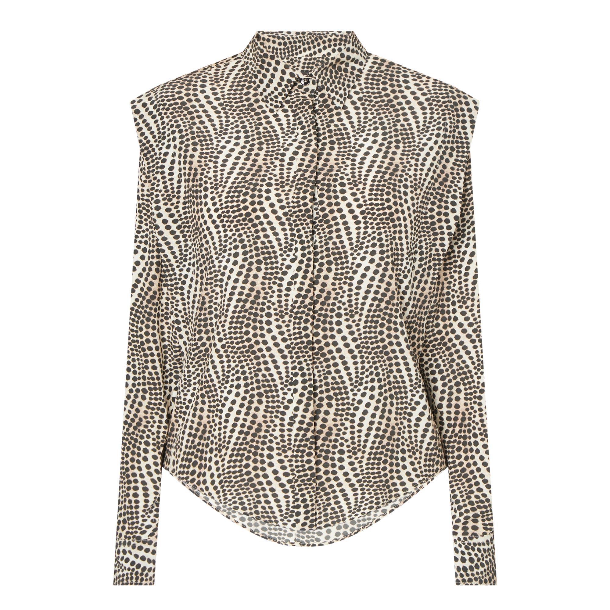 Animal Print Silk Shirt