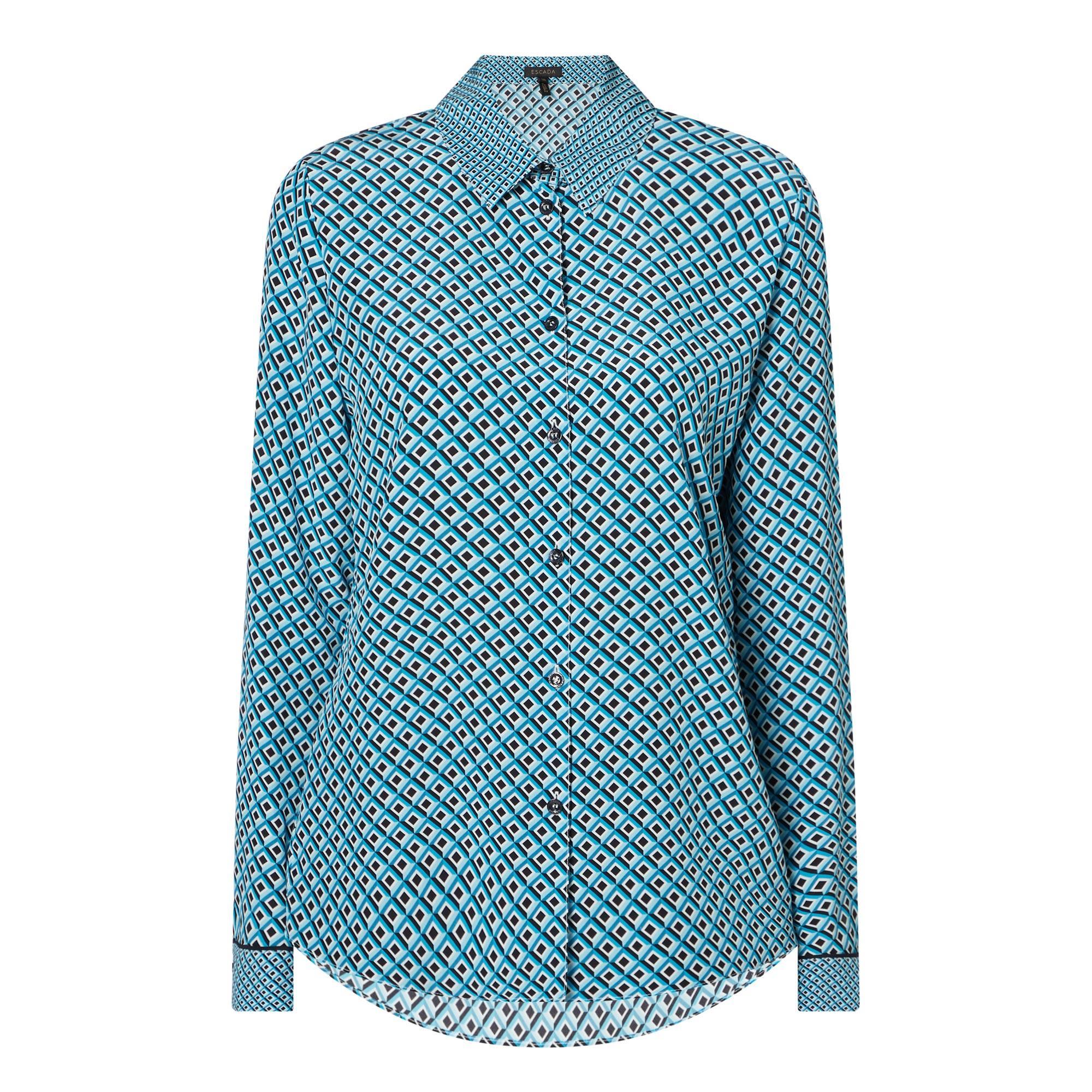 Geometric Silk Shirt