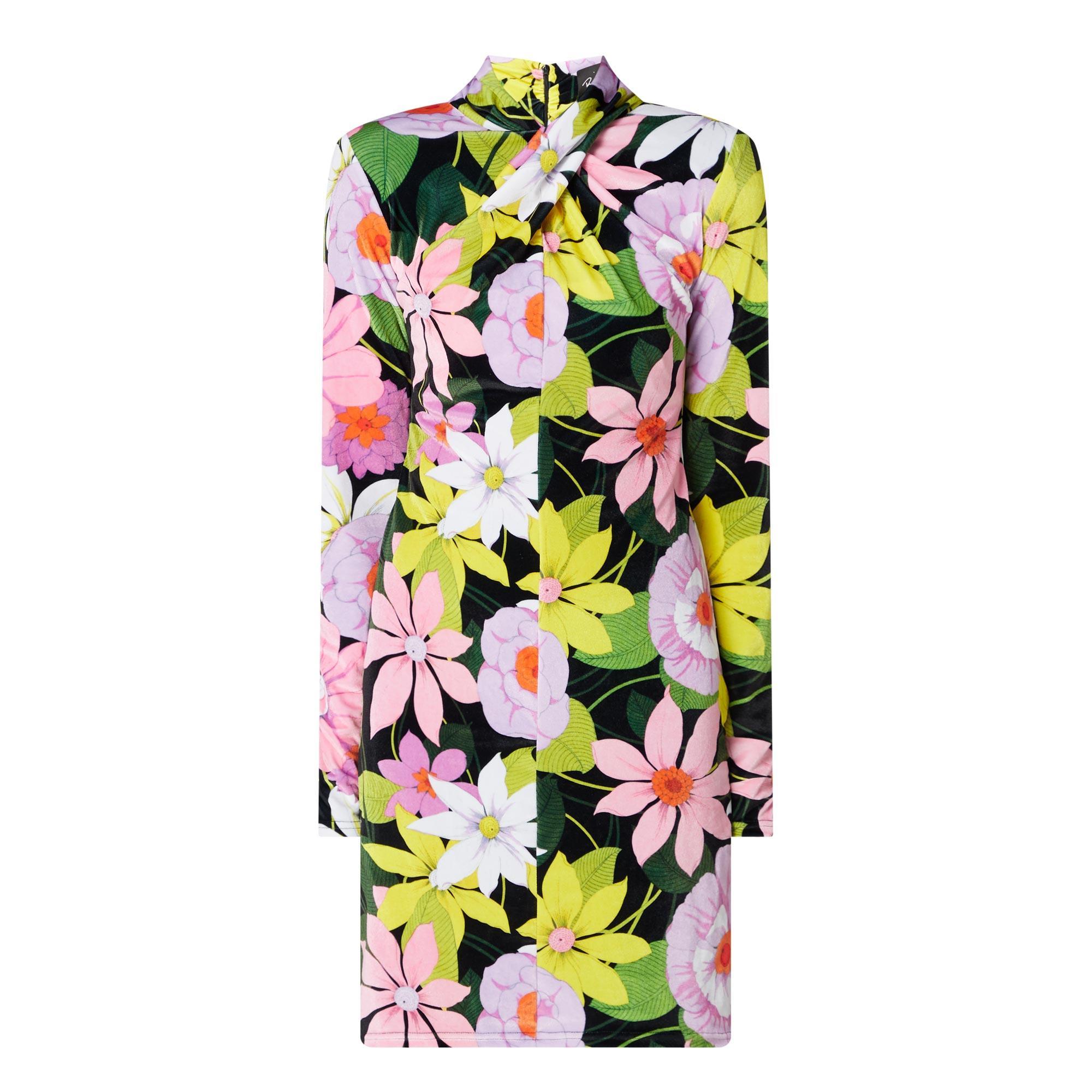 Daisy Print Long-Sleeved Dress