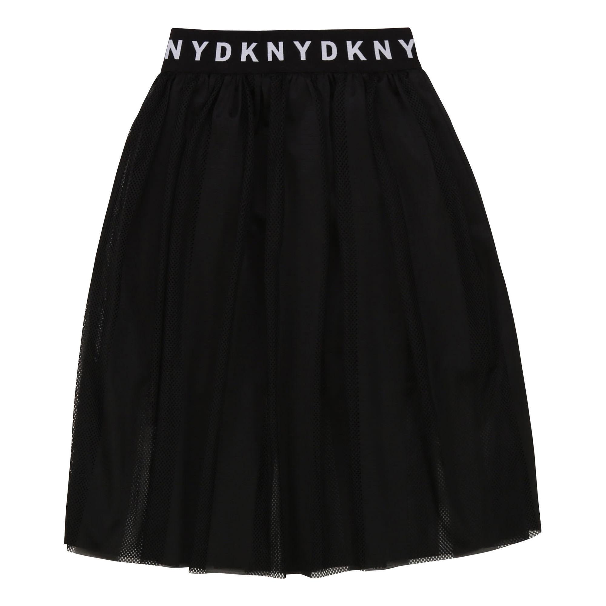 Banded Mesh Skirt