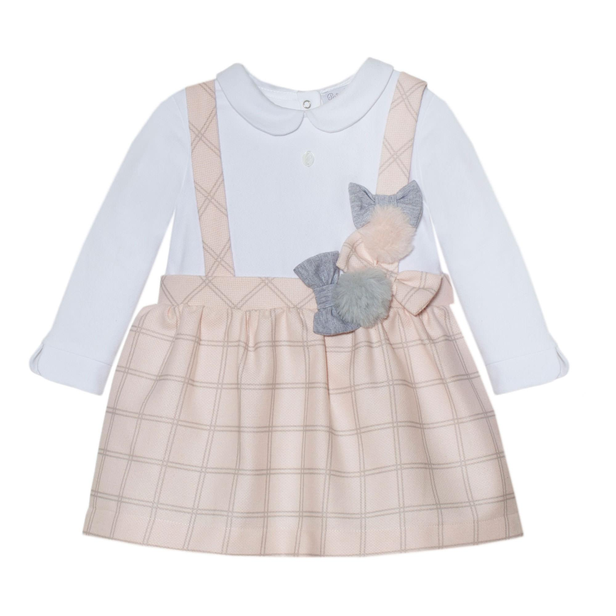 Check And Jersey Pinafore Dress