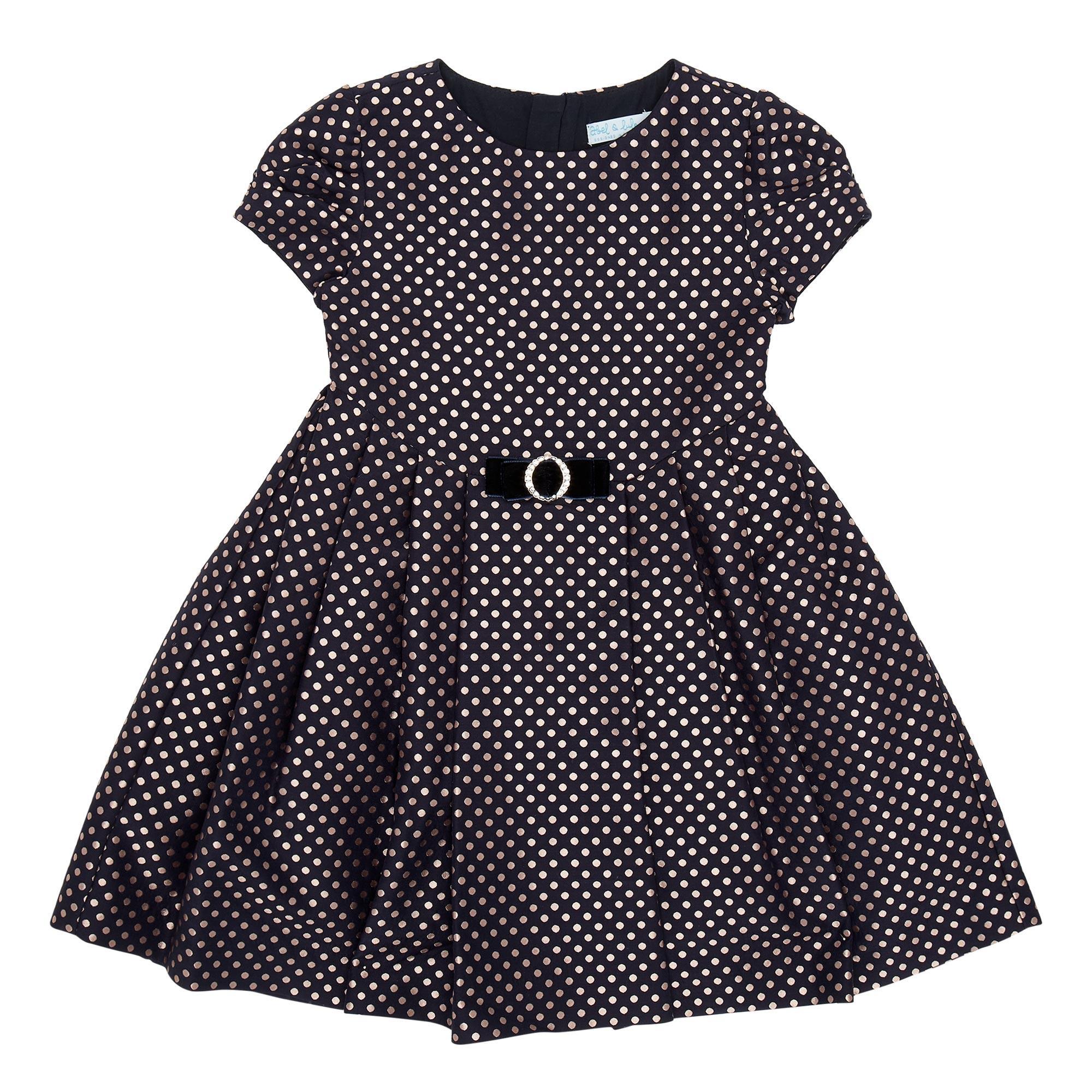 Polka-Dot Belted Dress