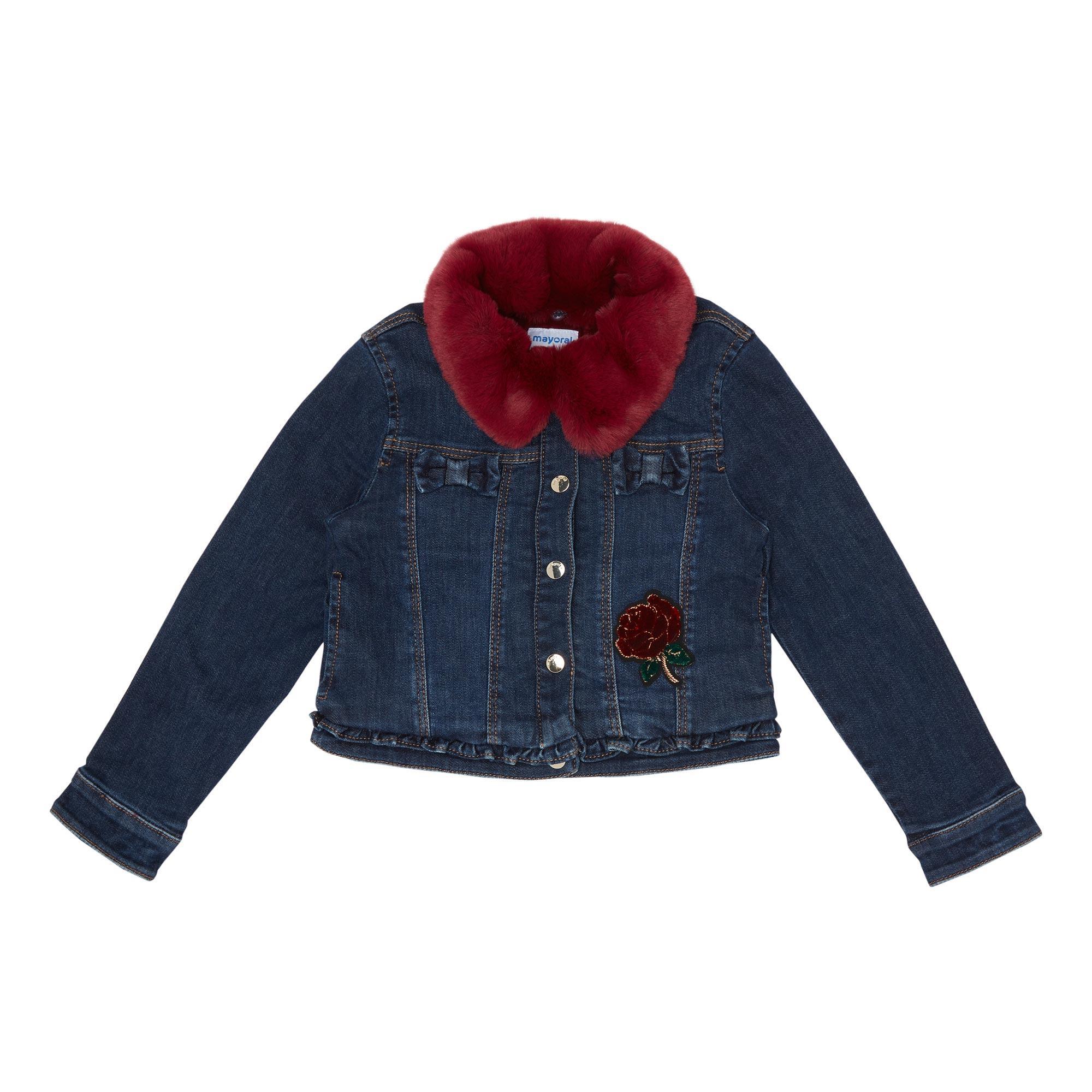 Fur Trim Denim Jacket