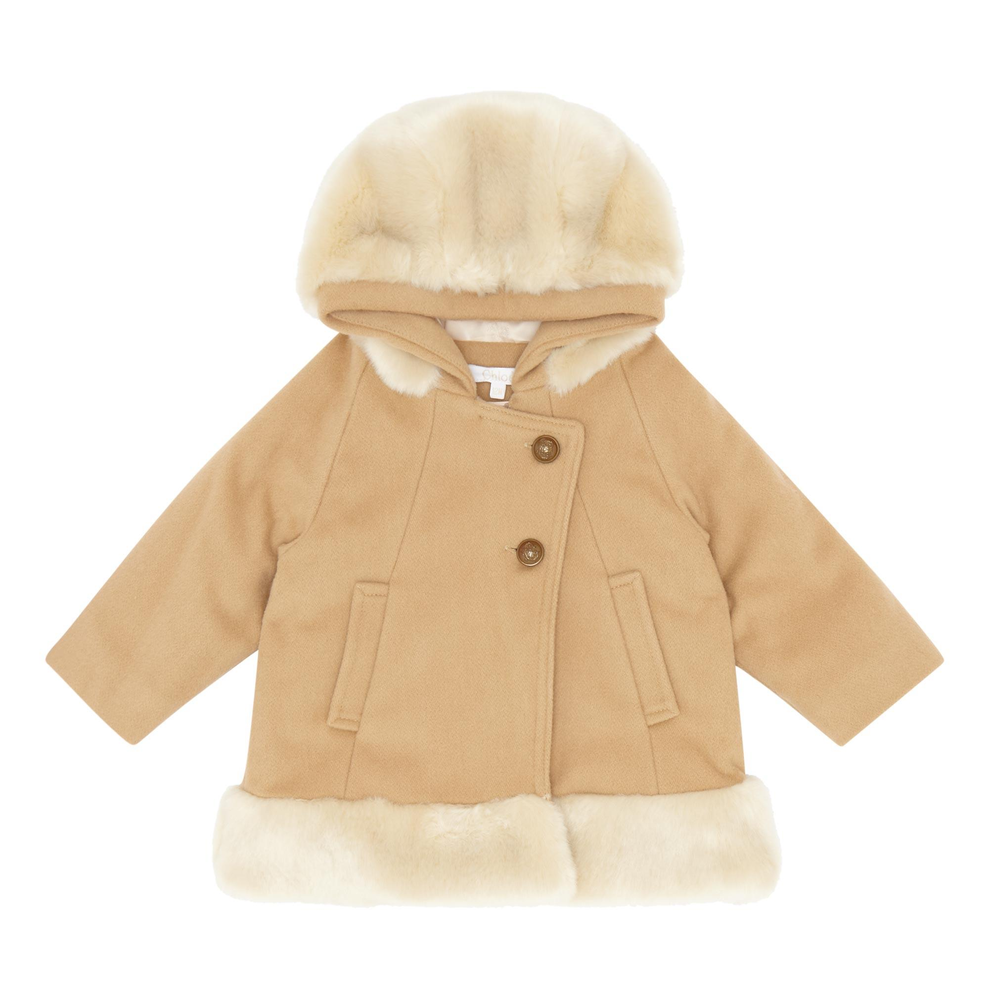 Faux Fur Wool-Blend Coat