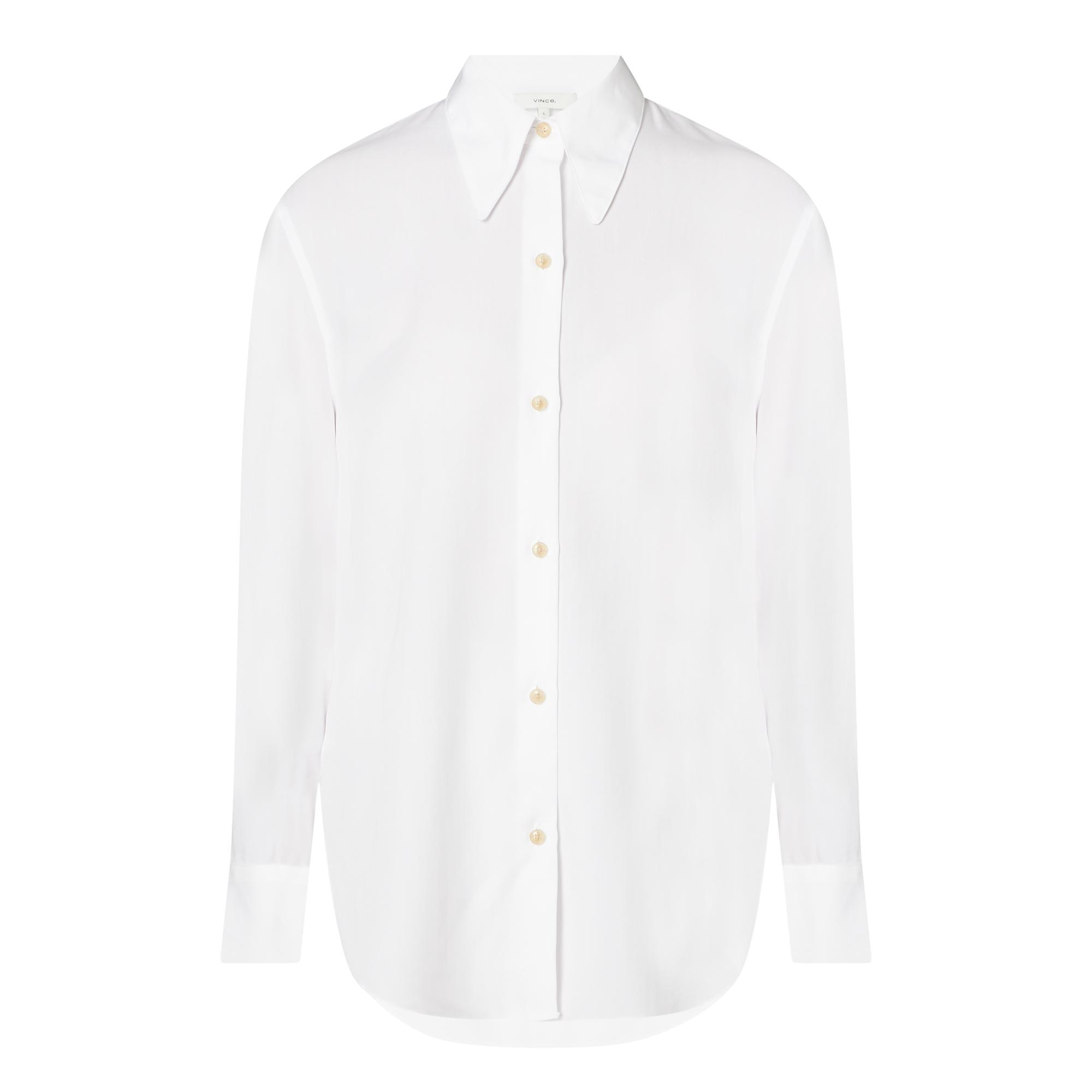 Long Collar Cotton Shirt