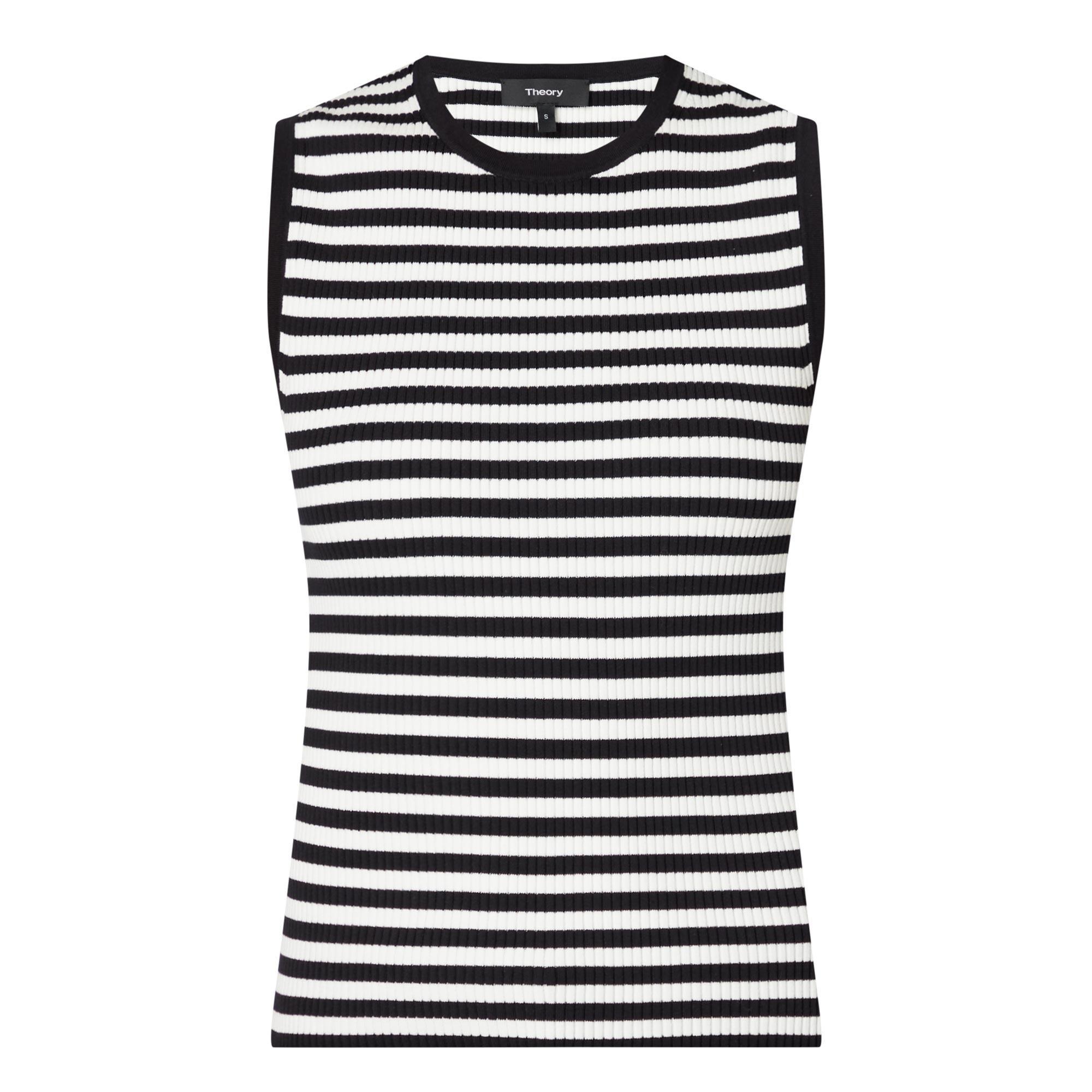 Stripe Cotton Ribbed Vest
