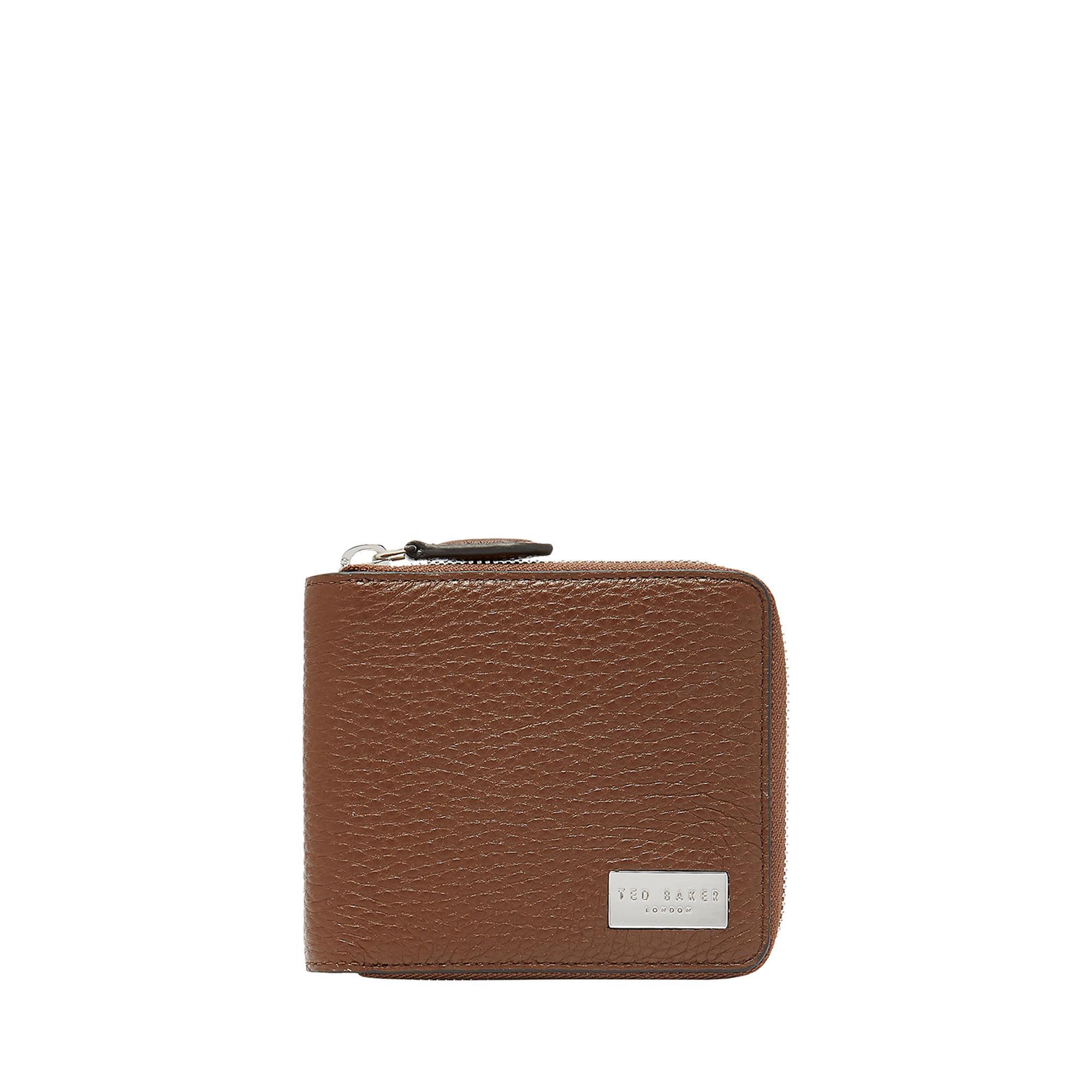 Baits Leather Zip-Around Wallet