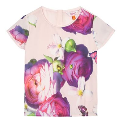 39374c0e5 Baker by Ted Baker Girls  pink floral print top