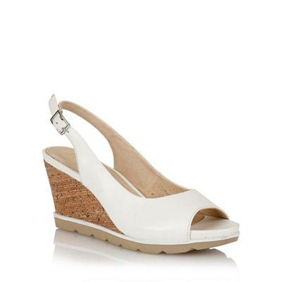 1b052b1a4b Lotus Lotus white 'Maron' wedge sandals