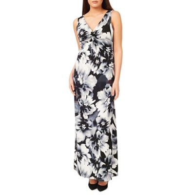 Windsmoor Mono Floral Printed Maxi Dress
