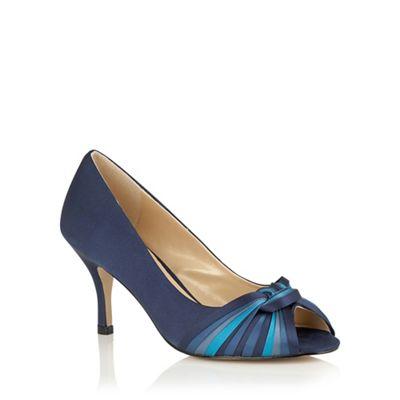 00cdf4e4c9 Lotus Blue multi satin 'Martyna' peep toe courts