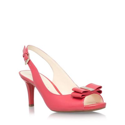 Anne Klein Red 'Stephania' mid heel sandal