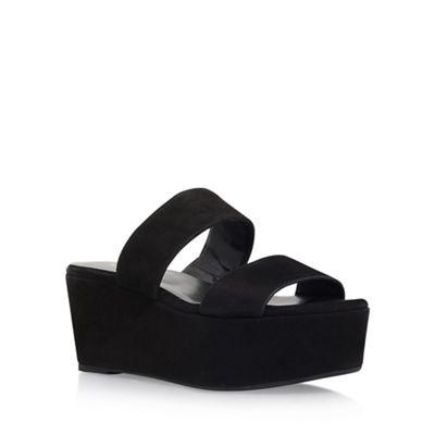 926ea4b8ec Carvela Black 'Klassy' high heel wedge sandal