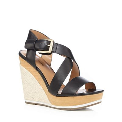 4b49a8ea74c93d Call It Spring Black  Lalisen  high wedge sandals