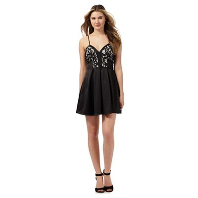 ca74d70818 Lipsy Ariana Grande for Lipsy black floral lace skater dress