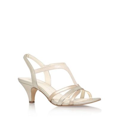 Anne Klein Gold 'McKay6' high heel sandals