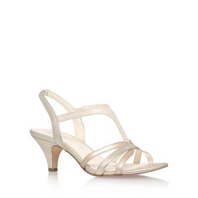 Anne Klein Gold 'McKay6' high heel sandals