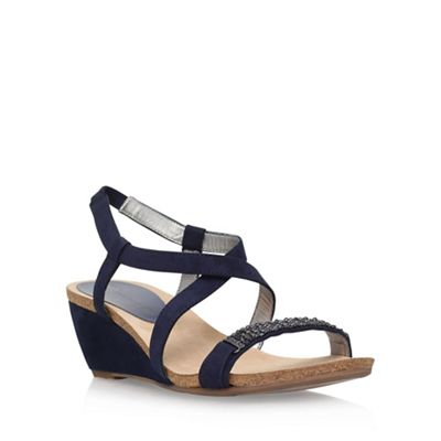 Anne Klein Blue 'Jasia2' low wedge sandal