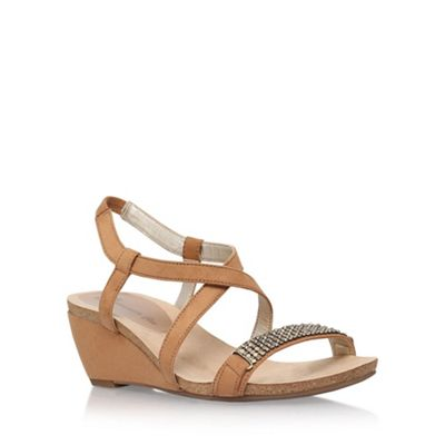Anne Klein Brown 'Jasia2' low wedge sandal