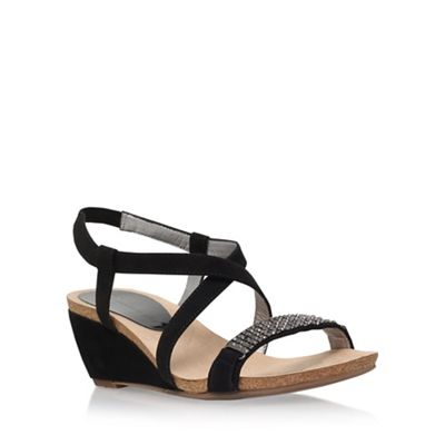 Anne Klein Black 'Jasia2' low wedge sandal