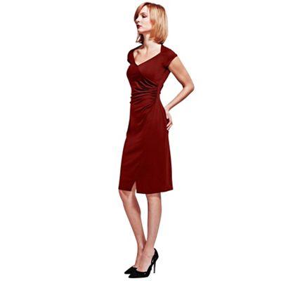 HotSquash Burgundy Raglan Sleeve Dress in clever fabric
