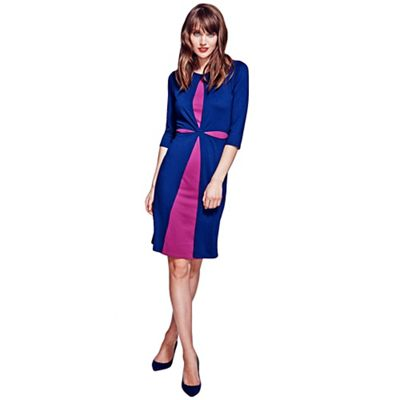 HotSquash Navy dress with contrast cut-out