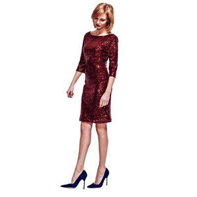 HotSquash Wine kneelength sequin dress