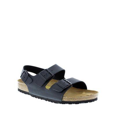 Birkenstock Black fabric 'Milano' women's back strap sandal