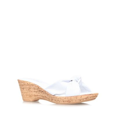 30eebd42a5 Carvela Comfort White 'Skylar' mid wedge heel sandals
