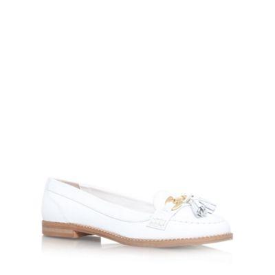 ed9c8d8a90 Carvela White 'List' flat slip on loafer