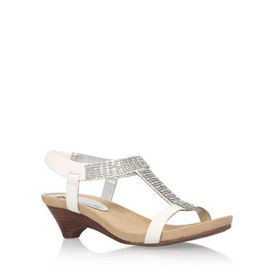 Anne Klein White 'Teale3' mid heel sandals