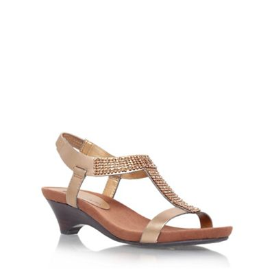 Anne Klein Metallic 'teale3' low heeled sandal