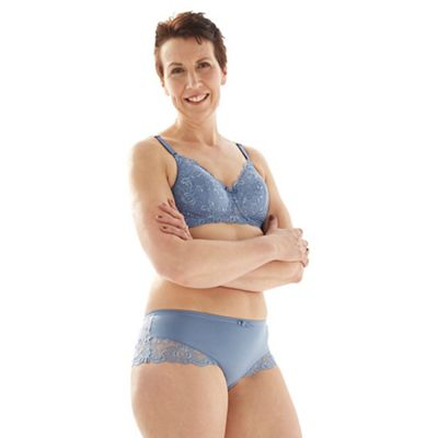 1f585481dea Spirit Post Surgery Mid blue supima cotton   lace padded non-wired  mastectomy bra
