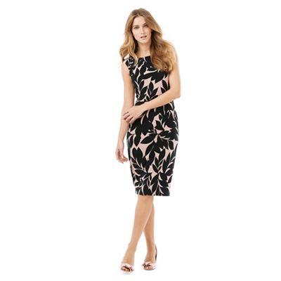 Phase Eight Black and Pink nima print dress