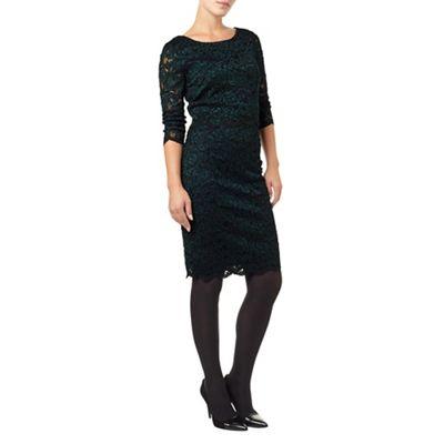 Phase Eight Blue Keke Lace Dress